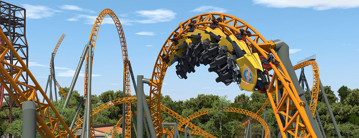 Dreamworld's new rollercoaster inverted loop